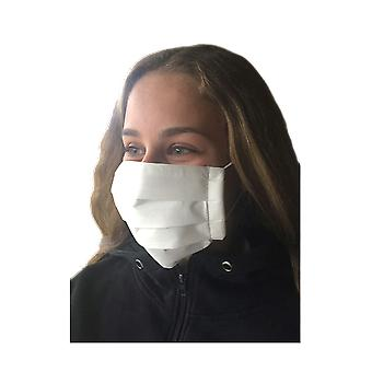 Face Mask In White, Washable 90 Degrees, Mouth Guard