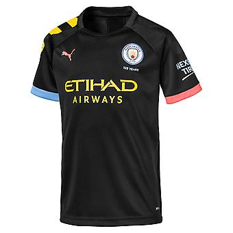 Puma Manchester City 2019/20 Kids Short Sleeve Away Football Shirt Black