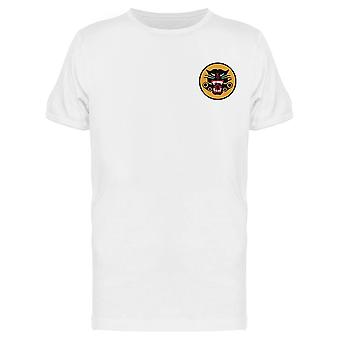Cool Panther Minimalist Emblem Men's T-shirt