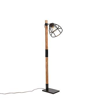 QAZQA Industrial floor lamp black - Arthur