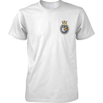 HMS Skylla - udrangeret Royal Navy skib T-Shirt farve