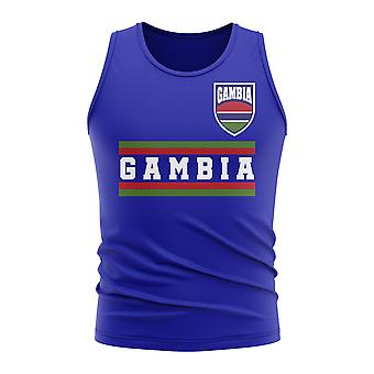 Gambia Core Football Country Camiseta sin Mangas (Royal)