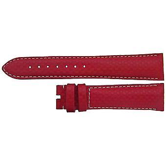 Auténtica correa de reloj omega 19mm piel de becerro rojo