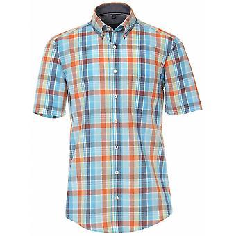 CASA MODA Casa Moda Check Short Sleeve Shirt