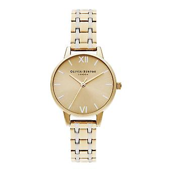 Olivia Burton Watches Ob16en03 The England Collection Midi Dial Pale Gold & Silver Stainless Steel Ladies Watch