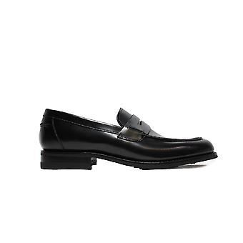 Loake 356 Black Leather Mens Slip On Loafer Shoes