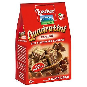 Quadratini Bite Dimensione Wafer Cookie Nocciola
