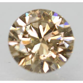 Cert 0.85 Carat Natural Fancy Brown VVS2 Round Brilliant Natural Diamond 6.09mm