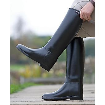 Shires Women's Long Rubber Riding Boots (Wide) Black