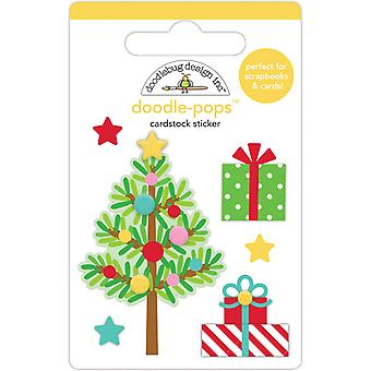 Doodlebug Design Trim the Tree Doodle-Pops (6pcs) (6459)