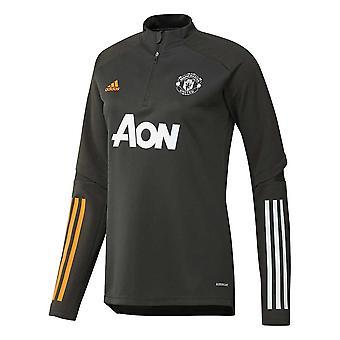 2020-2021 Man Utd Adidas Training Top (Green) - Womens