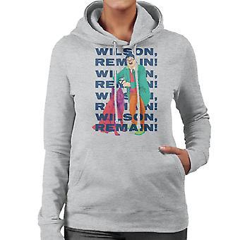 Friday Night Dinner Wilson Remain Women's Hooded Sweatshirt