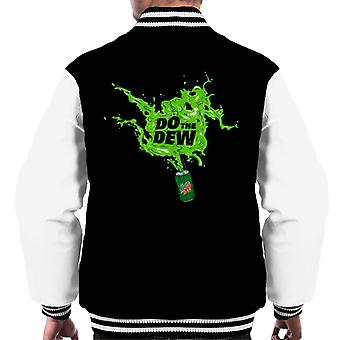 Mountain Dew Do The Dew Spilt Everywhere Men's Varsity Jacket