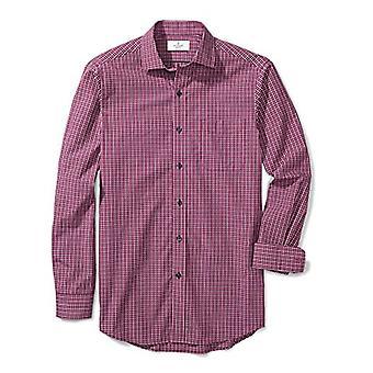 BUTTONED DOWN Men's Classic Fit Supima Cotton Spread-Collar Pattern Non-Iron ...