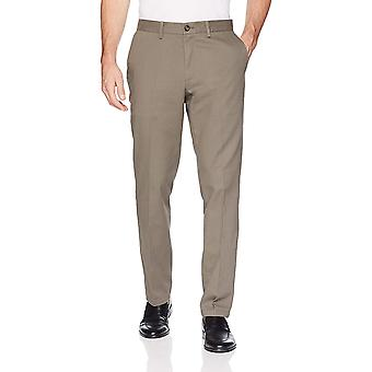Essentials Men's Slim-Fit Ryppyjenkestävä Litteä-Front Chino Pant, Taupe, 32W x 32L