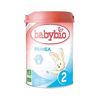 Primea 2 2nd Age Milk from 6 months Organic 900 g of powder