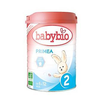 Primea 2 2 العمر 2 حليب من 6 أشهر العضوية 900 غرام من مسحوق