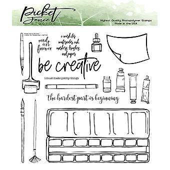 Picket Fence Studios I pracy dla akwareli jasne znaczki