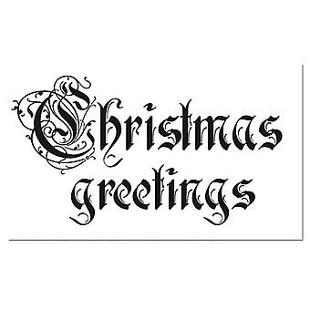 Natural Rubber Stamp Christmas Greetings (WTKCC31)