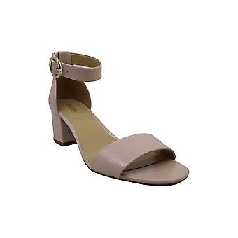 Michael Michael Kors Womens Lena flex mid Leather Open Toe Casual Ankle Strap...