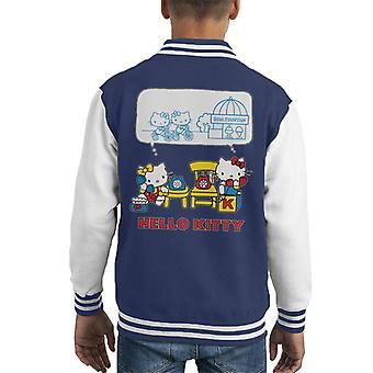 Hallo Kitty und Mimmy Soda Brunnen Chat Kid's Varsity Jacke