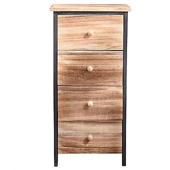 Rebecca Muebles cofre móvil de cajones baño 4 cajones vintage madera 71x35x25