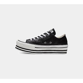 Converse Ctas Platform Layer Ox 564877C Black Women'S  Shoes Boots