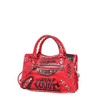 Balenciaga 3002951ro7n6460 Women's Red Leather Shoulder Bag