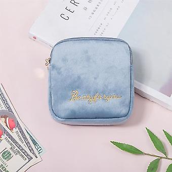 Women Sanitary Napkin Baby Diaper Storage Bag - Makeup Storage Bag Coin Purse Jewelry Organizer Credit Card Pouch Case