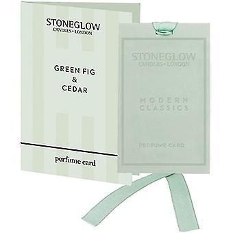 Stoneglow Modern Classics Perfume Card - Green Fig & Cedar