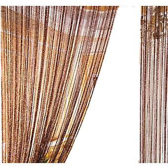 Cortina de cuerda de la puerta de la línea del flash del borla brillante - ventana decorativa cortina Valance