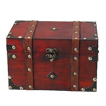 Porte-bijoux de rangement faits à la main boîte en bois