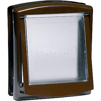 Staywell Medium Dog Door + Lock Panel - Brown