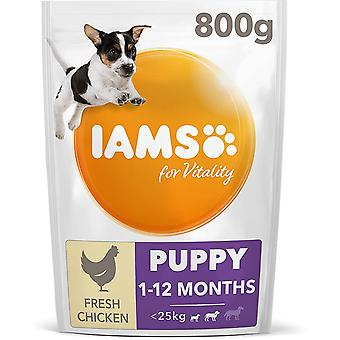 Iams Vitality Puppy Small/Medium Breed With Fresh Chicken - 800g