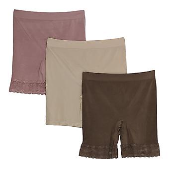Breezies Plus Shaper Mid-Thigh Short Set Of 4 Asst W/ Pink A374503