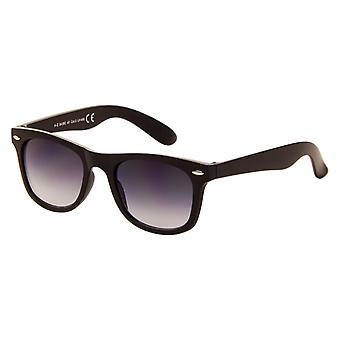 Sonnenbrille Unisex    matt schwarz mit grauer Linse (045 P)