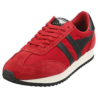Gola Boston 78 Mens Casual Trainers in Rood Zwart