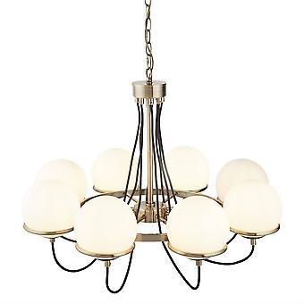 Searchlight Sphere - 8 Light Multi Arm Plafond hanger Chroom, Wit, E14