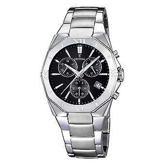 Festina chrono 5atm Watch for Analog Quartz Men with Stainless Steel Bracelet F16757/4