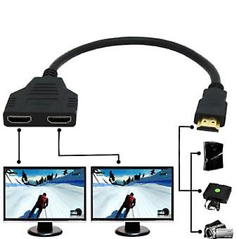 Hdmi Splitter Cable 1 Male To Dual Hdmi 2 Female Y Adapter In Hdmi Hd Led Lcd Tv (