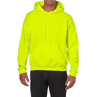 GILDAN G18500 Heavy Hooded Sweatshirt in Safety Green