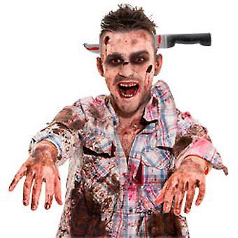 Blutiger Haarreif Messer im Kopf Halloween Horror