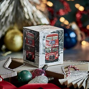 Red london bus snow scene breakfast tea 10 teabag carton