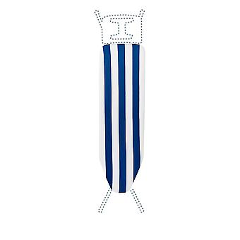 Granit Replacement Ironing Board Cover | Laminated Thick Felt | Adjustable Size Fits up to 105 x 30cm | Blue Stripe