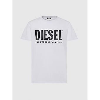 Diesel T-diego Logo Valkoinen T-paita