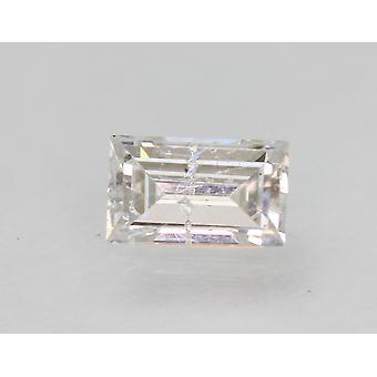 Certifié 0.51 Carat F SI2 Baguette Améliorée Natural Loose Diamond 5.94x3.67mm