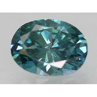 Cert 0,29 karat elävä sininen VVS1 soikea parannettu luonnollinen löysä timantti 4.92x3.7mm
