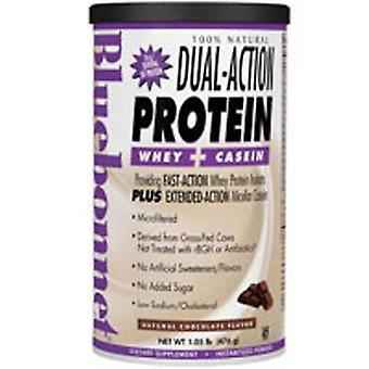 Bluebonnet Nutrition 100% Natural Dual Action Protein Powder, Natural Chocolate Flavor 2.1 lbs