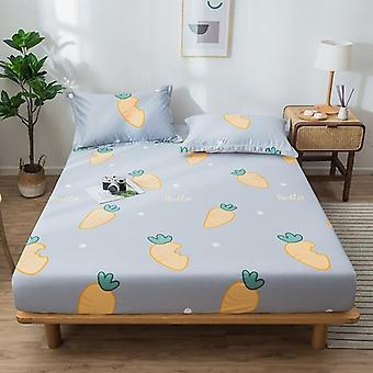 Bed Sheet Geometric Printed- Fitted Bed Sheet With Elastic Band, Bed Linen