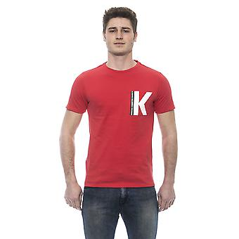Karl Lagerfeld Rosso Red Super K Print T-shirt